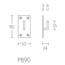 Piet Boon PB90 jashaak medium 50x90x3mm mat wit