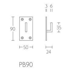 Piet Boon PB90 jashaak medium 50x90x3mm mat RVS