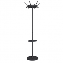 Basic staande kapstok Crown met parapluhouder - zwart