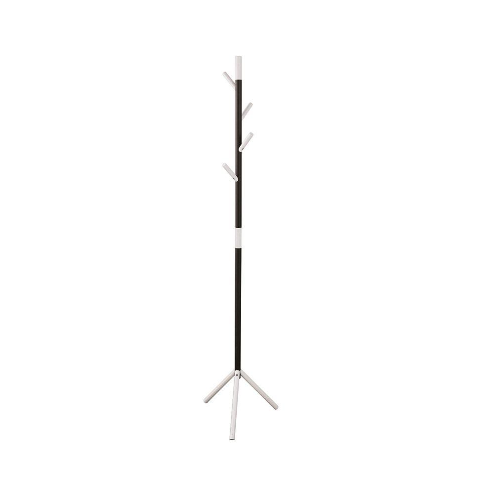Basic staande kapstok  Linair -zwart/wit