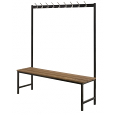 Basic wandgarderobe met bank