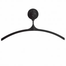 Basic Pro-line magnetische wandkapstok met 1 kledinghanger - grijs/zwart
