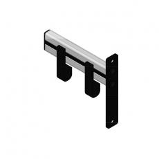 Basic Pro-line wandgarderobe met 2 kledinghangers - grijs/zwart