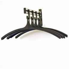 Basic Pro-line wandgarderobe met 4 kledinghangers - grijs/zwart