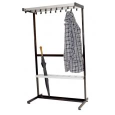 Basic Pro-line vrijstaand garderoberek 19 haken enkelzijdig - grijs/zwart