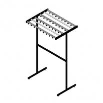 Basic Pro-line vrijstaand garderoberek 38 haken dubbelzijdig- grijs/zwart