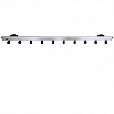 Basic Pro-line wandkapstok met 10 haken - grijs/zwart