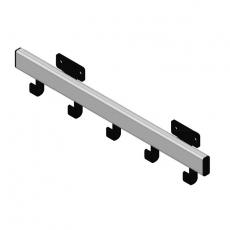 Basic Pro-line wandkapstok met 5 haken - grijs/zwart