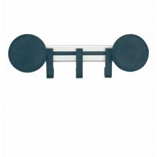Basic Pro-line magnetische wandkapstok  3 haken - grijs/zwart
