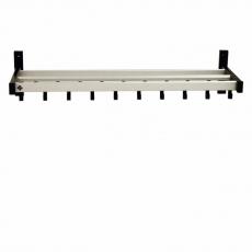 Basic Pro-line wandgarderobe met 19 haken - grijs/zwart