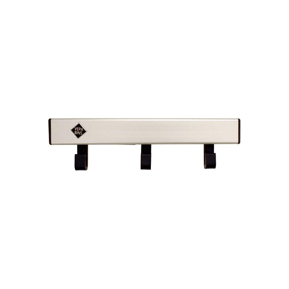 Basic Pro-line wandkapstok met 3 haken - grijs/zwart