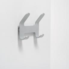 Van Esch Quattro wandkapstok - Metallicgrijs