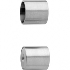 Garderobestang RVS inclusief steunen - 100 cm
